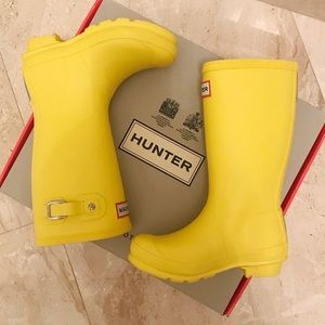 Hunter Original Kids Rain Boot in Wader Yellow